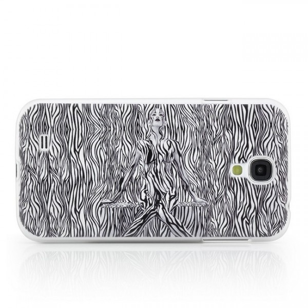 Zebra Girl Hard Back Cover für Samsung Galaxy S4