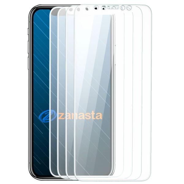 4x Curved Displayschutzglas für Apple iPhone X - Weiß