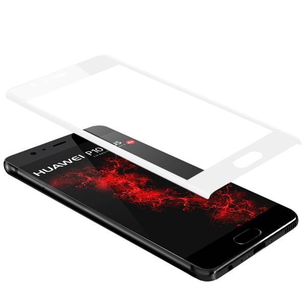 Curved Displayschutzglas für Huawei P10 Plus - Weiss