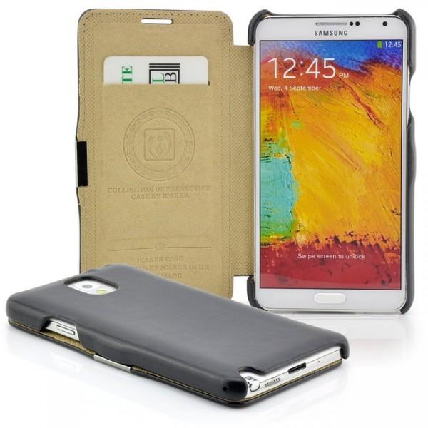 iCareR Side Open Case für Samsung Galaxy Note 3 Schwarz