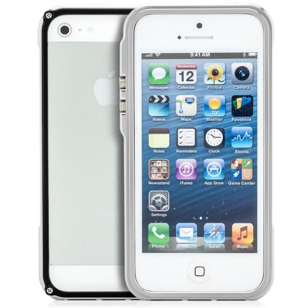 BLADE 5 - 4th Design Aluminium Bumper für Apple iPhone 5 5S SE Silber