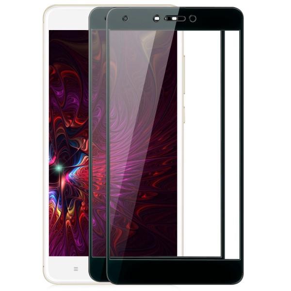 2x Full Cover Displayschutzglas für Xiaomi Redmi Note 4 / 4X - Schwarz