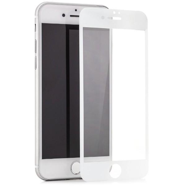 """Full Cover Displayschutzglas für Apple iPhone 6 / 6S (4,7"""") - Weiß"""