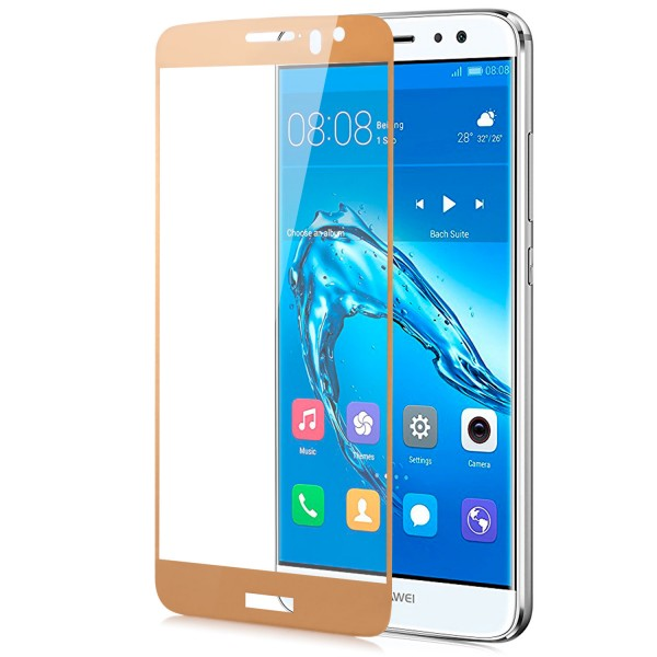 Full Cover Displayschutzglas für Huawei Nova Plus - Gold