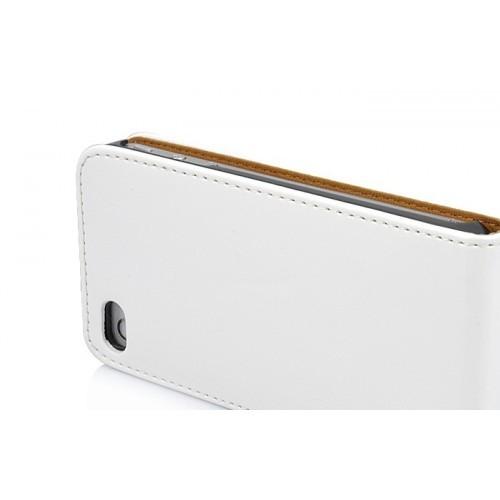 Flip Tasche mit Magnetverschluss für Apple iPhone 5 & 5S Weiß