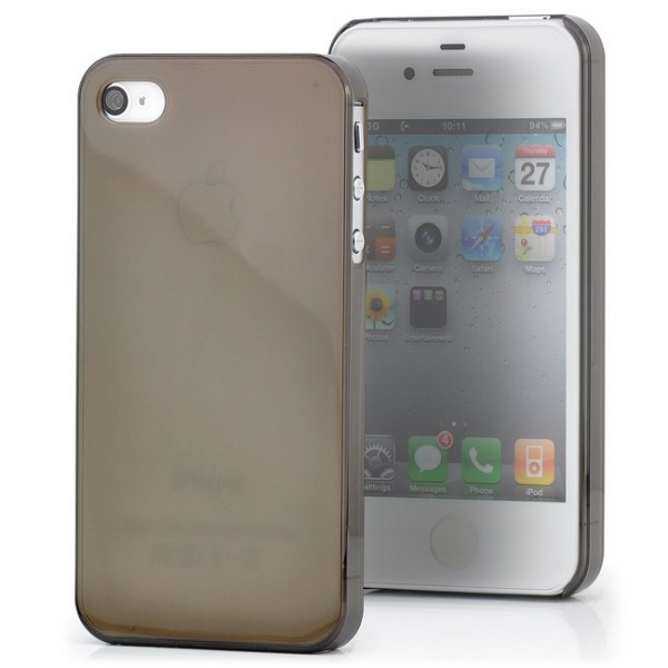 Ultra Slim Back Cover für Apple iPhone 4 & 4S Schwarz