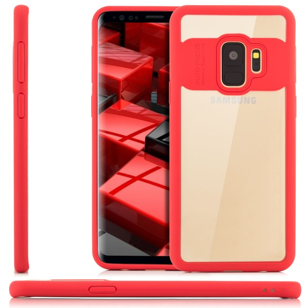 Silikon Back Cover für Samsung Galaxy S9 - Transparent-Rot