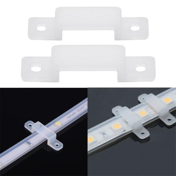 2x Silikon Befestigung für LED-Streifen 12mm