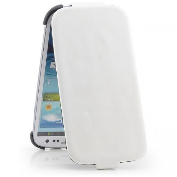Smooth Skin Flip Case für Samsung Galaxy S3 Weiß