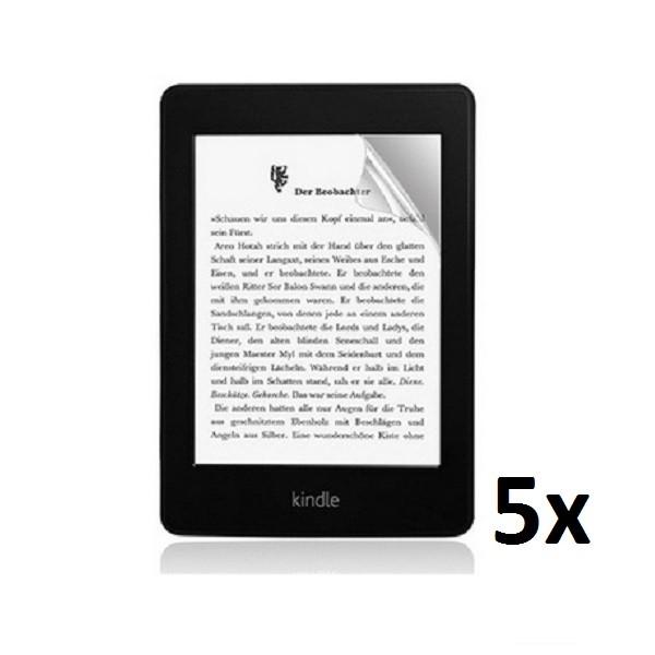 5x Displayschutzfolie für Amazon Kindle Paperwhite 1 / 2 Klar