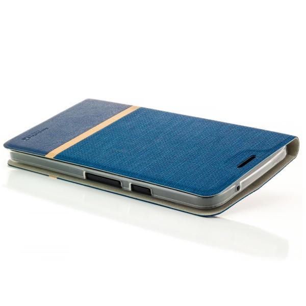 Kunstleder Streifen Case für LG Google Nexus 5X - Blau