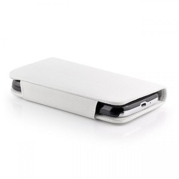 2 in 1 Back Cover Tasche für Samsung Galaxy S4 Weiß