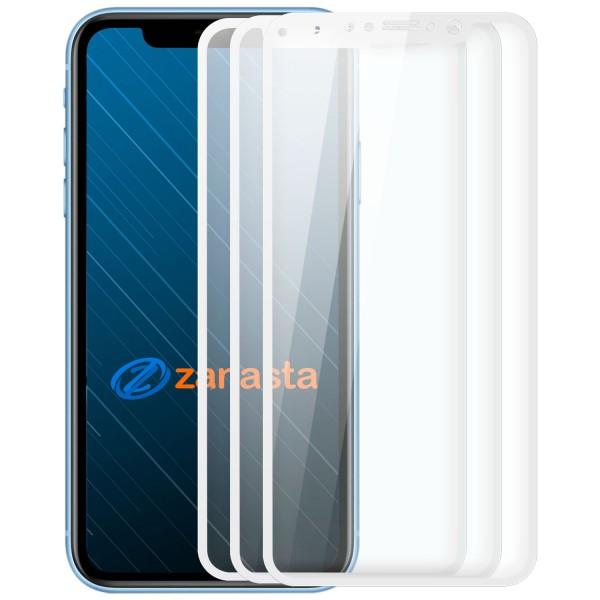 """3x Full Cover Displayschutzglas für Apple iPhone XS (5,8"""") - Weiß"""
