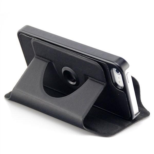360° Stand Case für Apple iPhone 5 & 5S Schwarz