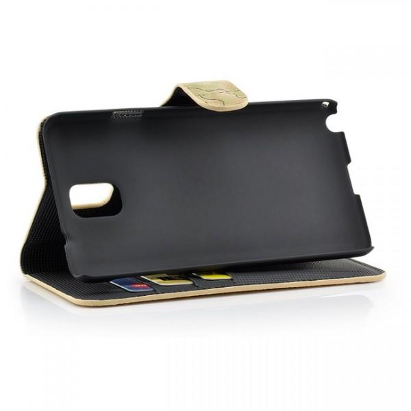 Weltkarte Tasche für Samsung Galaxy Note 3 Braun
