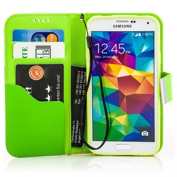 Mixed Colours Tasche für Samsung Galaxy S5 Gelb-Rot
