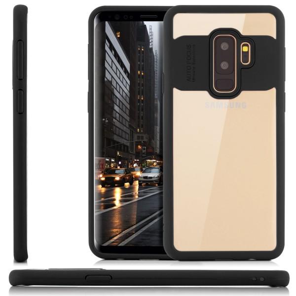 Silikon Back Cover für Samsung Galaxy S9 Plus - Transparent-Schwarz
