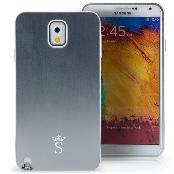 Aluminium Case für Samsung Galaxy Note 3 Silber