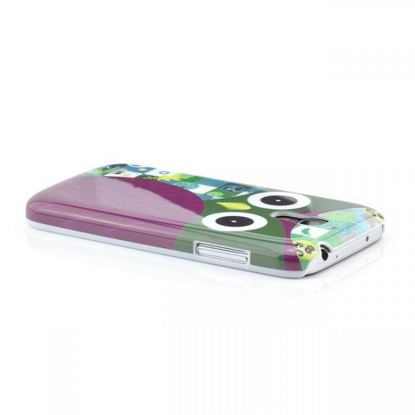 Owl Hard Back Cover für Samsung Galaxy S4 Mini Lila