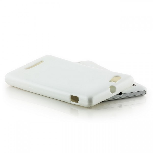 Slim Back Cover für Sony Xperia M Weiß