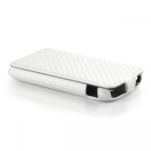 Carbon Optik Case für Samsung Galaxy Ace 2 Weiß