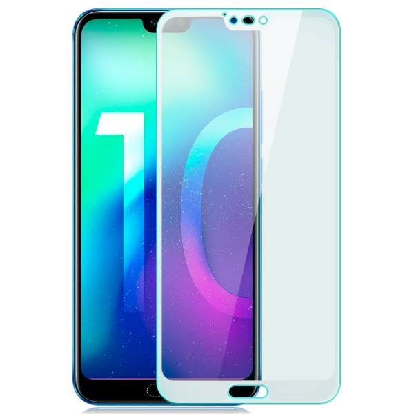 Full Cover Displayschutzglas für Huawei Honor 10 - Weiß