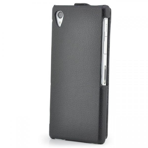 Slim Flip Tasche für Sony Xperia Z1 Schwarz