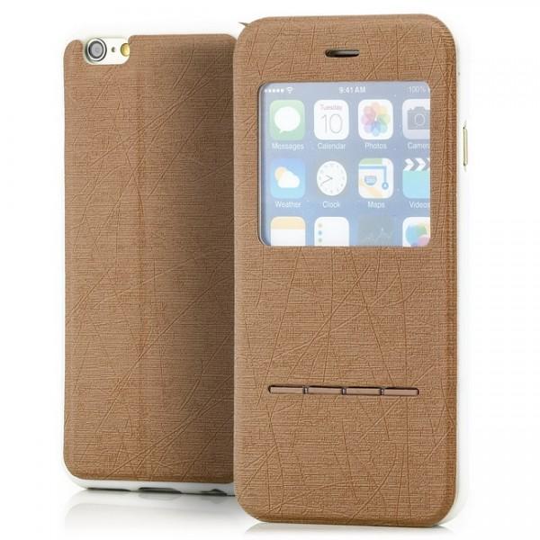 Cross Flip View Case für Apple iPhone 6 & 6S (4,7) Gold -MF-