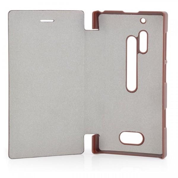 Business Flip Tasche für Nokia Lumia 928 Braun