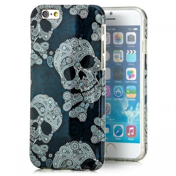 Grün Schädel Silikon Cover für Apple iPhone 6 (4,7)