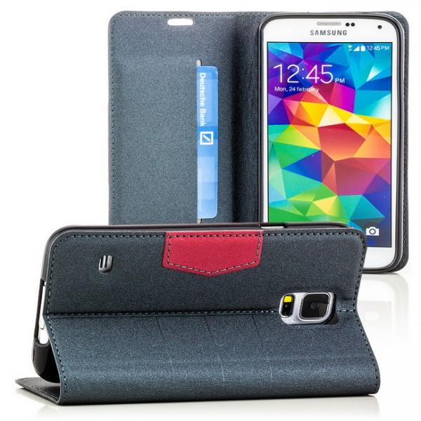 Flip Tasche für Samsung Galaxy S5 Grau