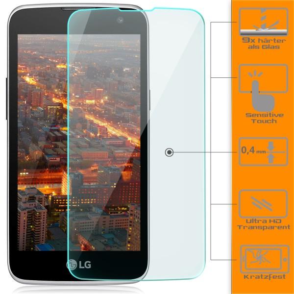 2x Displayschutzglas für LG K4 (2016)