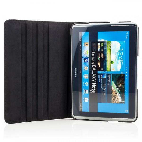 360° Stand Case für Samsung Galaxy Note 10.1 N8000 Schwarz