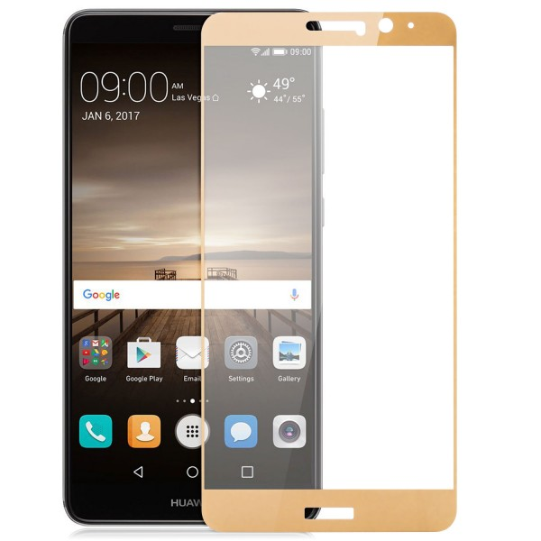 Full Cover Displayschutzglas für Huawei Mate 9 - Gold