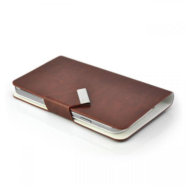 Schutzhülle mit Magnetverschluss für Samsung Galaxy S4 Braun
