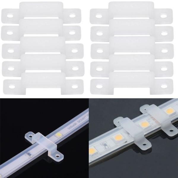 10x Silikon Befestigung für LED-Streifen 10mm