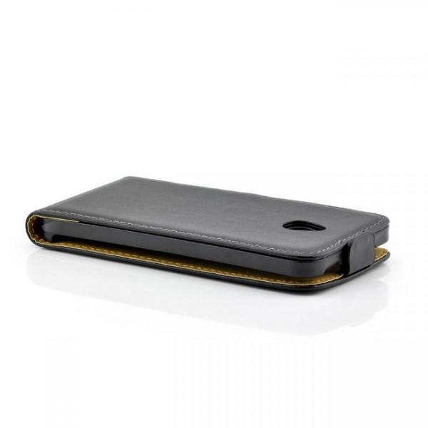 Flip Case mit Magnetverschluss für HTC One M4 Mini Schwarz