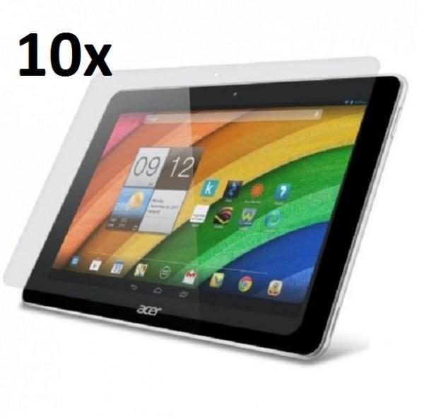 10x Displayschutzfolie für Acer Iconia Tab 10 / A3-A20 Klar