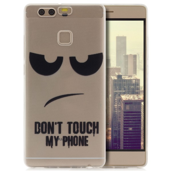 Silikon Motiv Case für Huawei P9 - Dont Touch my Phone