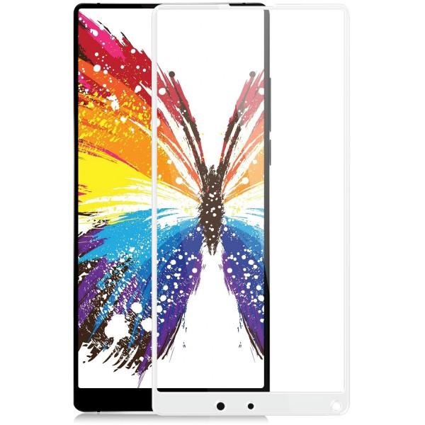 Full Cover Displayschutzglas für Xiaomi Mi Mix 2 - Weiß
