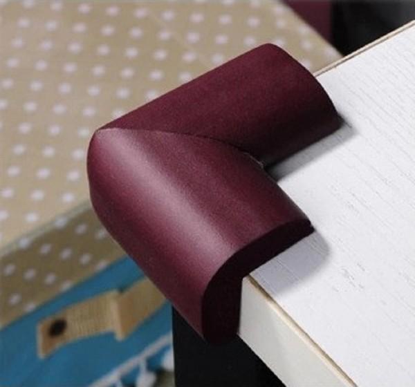 2x Eckenschutz Tisch Kantenschutz Eckschutz Möbel Kinder Baby Braun
