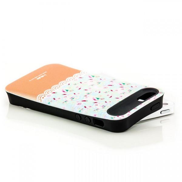 iStyle Back Cover für Apple iPhone 5 & 5S Weiß-Braun