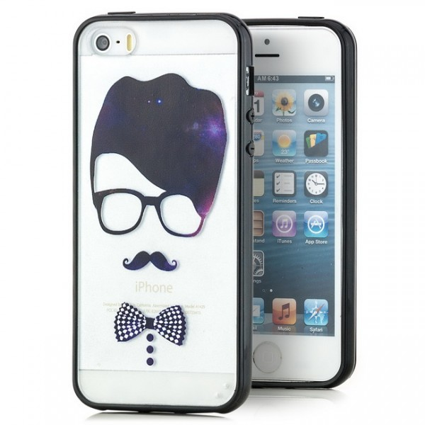 Hipster Hard Back Cover für Apple iPhone 5 & 5S