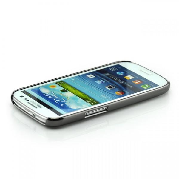 Glitzer Streifen Case für Samsung Galaxy S3 Silber