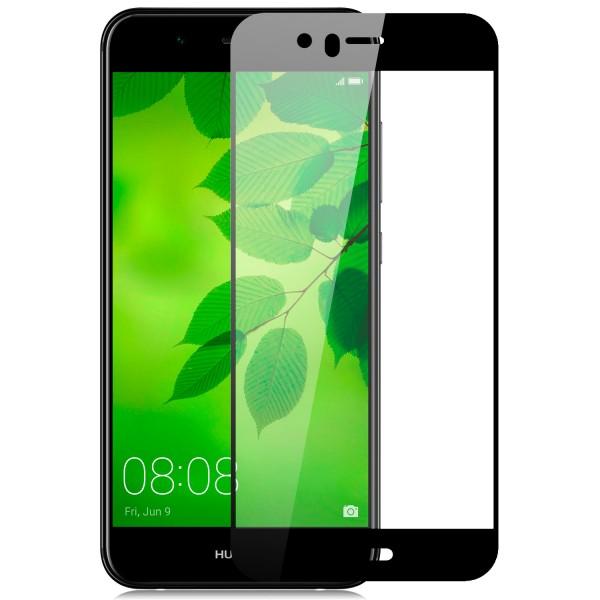 Full Cover Displayschutzglas für Huawei Nova 2 Plus - Schwarz