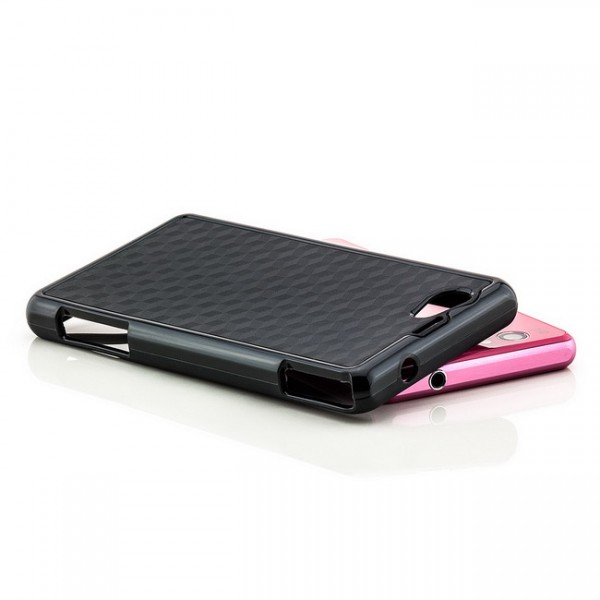 Cubes TPU Back Cover für Sony Xperia Z1 Compact Schwarz