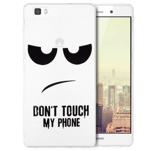 Silikon Motiv Tasche für Huawei P8 Lite - Dont Touch my Phone