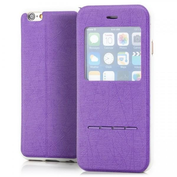 Cross Flip View Case für Apple iPhone 6 & 6S (4,7) Violett -MF-