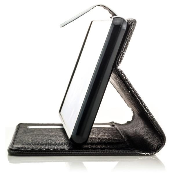 Business Tasche mit Magnetverschluss für Huawei P10 - Schwarz