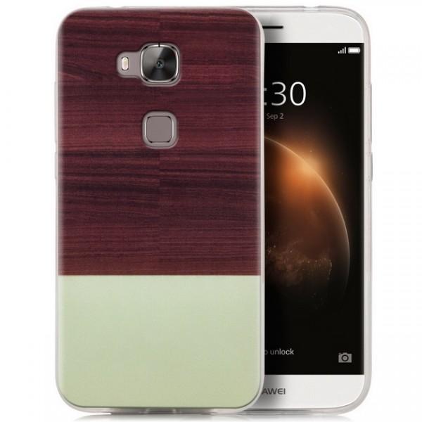 Silikon Motiv Case für Huawei G8 / GX8 - Braun & Grün